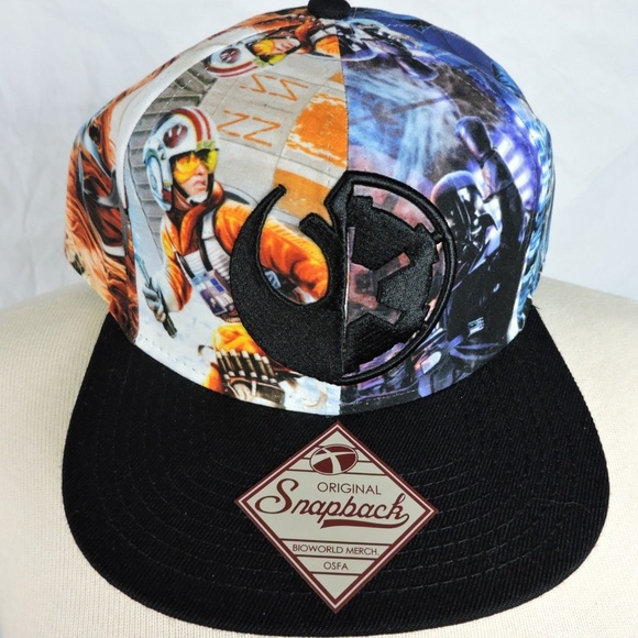 6184cf93c2e7c Star Wars All-Over Sublimation Decal Snapback Hat